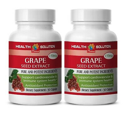 grape supplement - Grape Seed Extract 150mg - heart health vitamins 2 Bottles