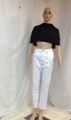 Red Jeans NYC Women's Classic High-Waist White Skinny Jeans Size 10