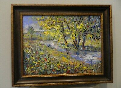 "Impressionism Oil Fine Art. The Little Creek Original. Ducuron artist 18""x24""."