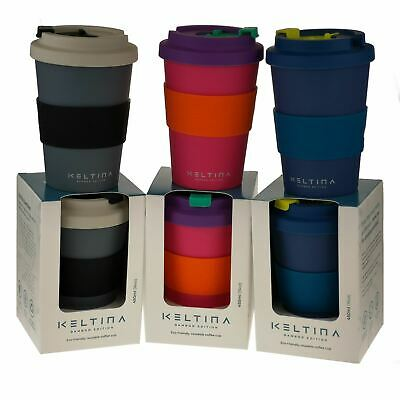 Keltina Bamboo Eco Biodegradable Coffee Travel Mug To Keep - Cup Reusable