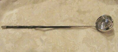 Antique English Georgian Sterling Silver Toddy Ladle with Coin 1758