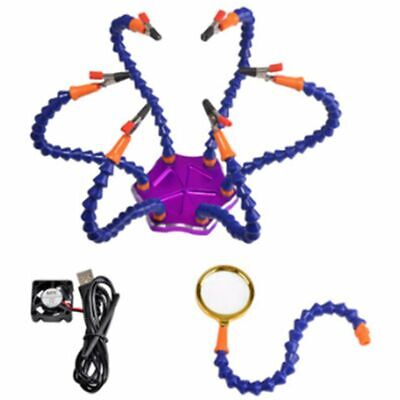 Multi Soldering Helping Hands Third Hand Tool 6 Flexible Arms With Clip For U4N5