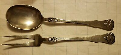 DA DAVID ANDERSEN? SALAD SERVING FORK & SPOON NORWAY 830S 145g scrap or use