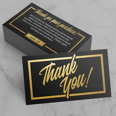 500 Thank You For Your Purchase Seller Business Cards 16pt UV Gloss Design Pro