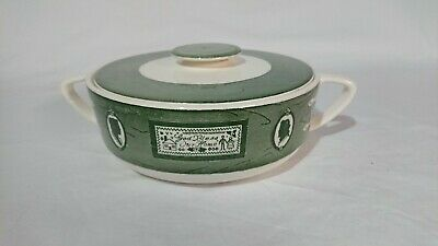 Colonial Homestead by Royal China Green Casserole Dish