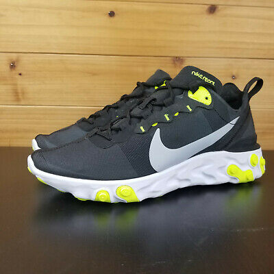 detailed look 2f703 8170e Clothing, Shoes   Accessories Nike React Element 55 Black Volt Wolf Grey  White Neon Green Running BQ6166-001 Athletic Shoes