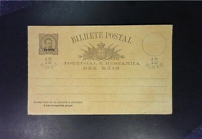 Azores Early 10R Reply Card Entire Unused - Z1448