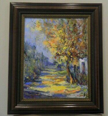 "Impressionism Oil Fine Art. Autumn tree.Original. Ducuron artist 16""x20"". Canvas"