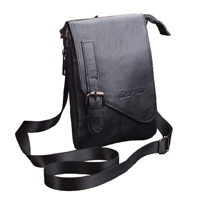2d5fb8cfa4a Hengying Leather Shoulder Bags Men Small Vertical Case Pouch Holster Belt  Clip W