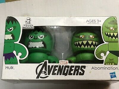 Hasbro Mini Muggs Marvel Avengers Hulk/Abomination 2-Pack NEW-SEALED!