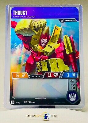 Transformers TCG Rise of the Combiners Thrust #UT T43 Uncommon Character Card