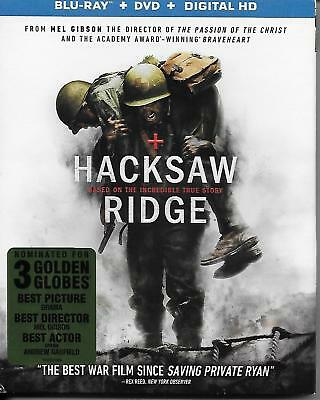 Hacksaw Ridge 2017 Blu-ray + DVD 2-Disc Set Watched Only Once