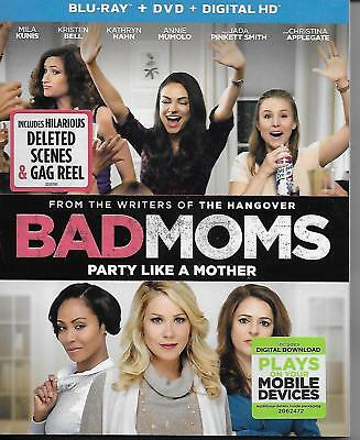 Bad Moms 2016 Blu-ray + DVD 2-Disc Set Great Comedy Watched Only Once