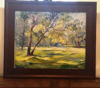 "Impressionism Oil Fine Art. The tree. Original. Ducuron artist 16""x20"". Canvas"