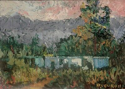 "Impressionism Oil Fine Art. From de mountains. Ducuron  internati artist. 9""x11"