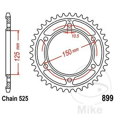 JT Rear Sprocket 45T 525P JTR899.45 Steel KTM Adventure 950 S LC8 2003
