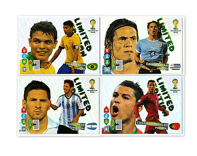 2014 Panini Adrenalyn XL WORLD CUP BRASIL LIMITED EDITION XXL Messi Ronaldo Reus