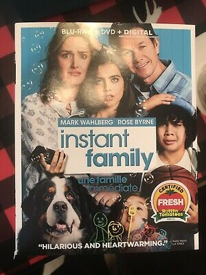 INSTANT FAMILY  (Blu-ray + DVD + Digital HD)  SLIPCOVER BRAND NEW
