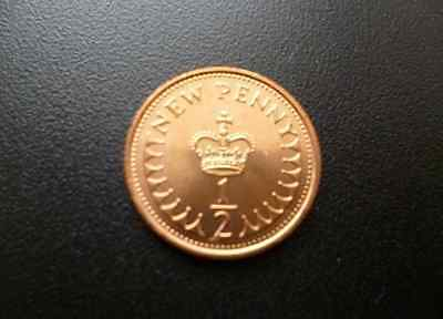 1971 49th birthday Mint 1971 Half pence coin - Birthday Gift / Fathers Day