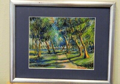 "Impressionism Oil Fine Art. .""In the Park"".Ducuron artist.Original 8""x10"".Canvas"