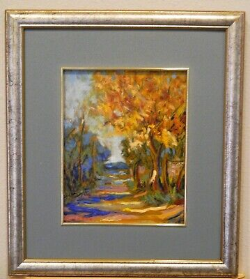 "Impressionism Oil Fine Art.""Autumn Street"".Ducuron artist.Original 8""x10"".Canvas"