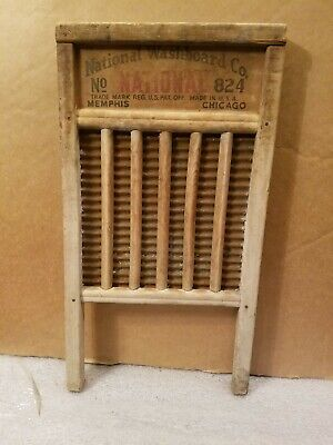 """Antique Vintage National Washboard Co """" The Silver King """" # 824 Primitive Rusted"""