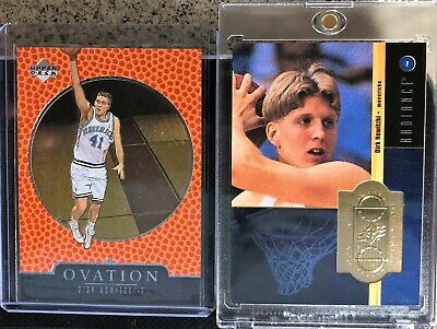 Dirk Nowitzki 1998-99 Rookie Lot : SPx Finite RADIANCE /1500 + OVATION RC #79