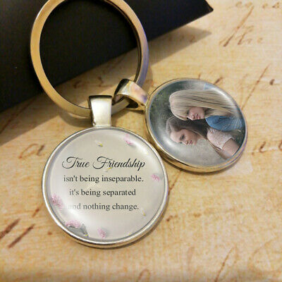 Best Friends Jewelry Photo Personalised True Friendship Birthday Gifts Keyring