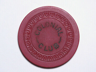 Colonial Club - Augusta Georgia - Illegal Casino Chip - HARP Red