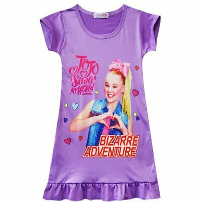 2c59dfc594e Summer Kids Girl Jojo Siwa Top T shirt Dress Nightwear Nightdress Pyjamas  Gift