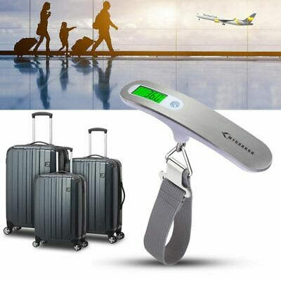 50kg Mini Luggage Scale LCD Electronic Thermometer Capacity Digital Weighing Pro