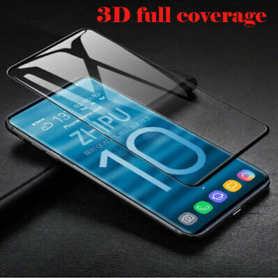 For Samsung Galaxy S10 Plus S10 Full Protect Tempered Glass Screen Protector lot