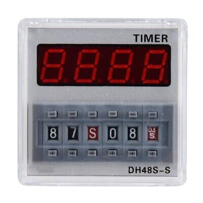 DH48S-S-2Z ProgrammableLED Delay Time Relay Timer 0.1S-99H 12V AC/DC/220VAC 2W
