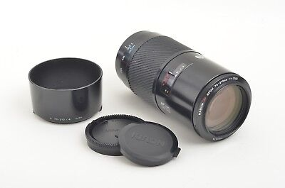 """EXC++ MINOLTA AF 70-210mm F4 """"BEERCAN""""  ZOOM FOR SONY A OR MAXXUM w/HOOD, CAPS"""