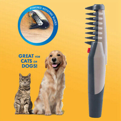Electric Dog Cat Grooming Comb Shaver Groomer Pet Hair Scissor Trimmer Brush