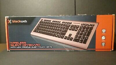 ee7c0bdbc87 BLACKWEB Wireless Silent Keyboard Low Profile Quiet Touch Keys (BWC17H0006)™