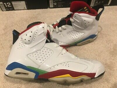 info for ab2fb 3dad5 DS 2008 NIKE Air Jordan 6 Olympic Rings Beijing RARE AIR Supreme Off White  Bred