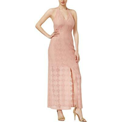 4abf3b9ab GUESS WOMENS EMERY Pink Lace Open Back Halter Maxi Dress 0 BHFO 8016 ...