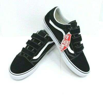 008750ddb13 Vans Mens Old Skool V Suede Canvas Skate Shoes Black White Size 11.5 NEW In  Box