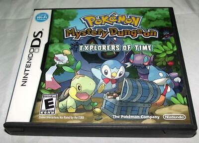 Pokemon Mystery Dungeon Explorers of Time Nintendo DS 2DS 3DS  *Complete*