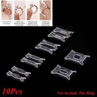 10x Ring Size Adjuster Set Plastic Ring Adjuster Pad Jewelry Resizing Tools