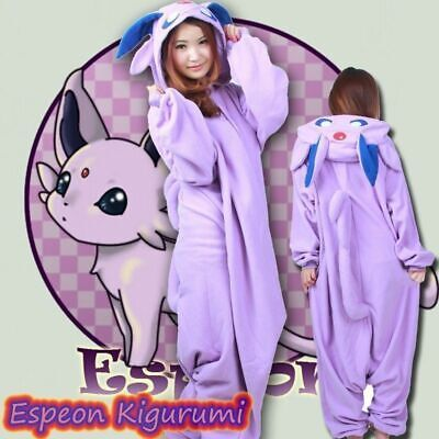Hot Adult Onesie Kigurumi Pajamas Cosplay Costume COS Pokemon Monsters Espeon FR