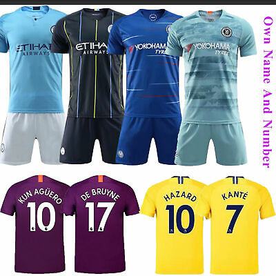 18/19 Football Club Jersey Shirts Short Sleeve Team Suit Kids 3-12 Yrs Kits Sock