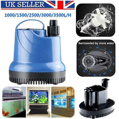Submersible Water Pump Fish Pond Aquarium Tank Waterfall Fountain Sump Features
