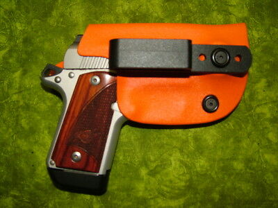 Look!!! Super Nice Left Iwb Orange Kydex Holster Hand Made Fitted