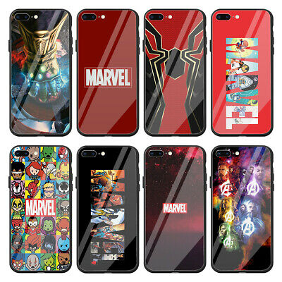 marvel glass iphone 8 case