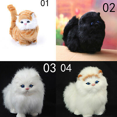 Simulation stuffed plush cats toy soft sounding Electric cat doll toys for kid H