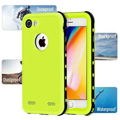 Waterproof Shockproof Heavy Cover For iPhone 8 Plus case Wireless charging i7