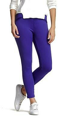 45e1d1bc81a186 Hue Leggings Satin Jersey Skimmer Pants Smooth U16107H Purple Reign XS New  NWT