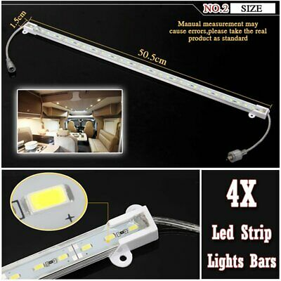 Cool White Waterproof 5630 Led Strip Lights Bars Camping Caravan Car Boat 12V 4X